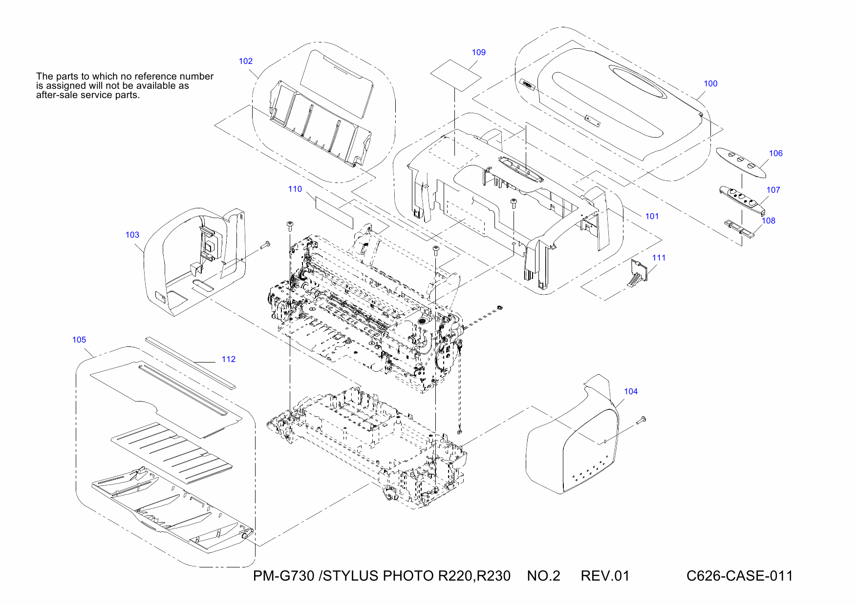 EPSON StylusPhoto R220 R230 Parts Manual